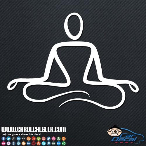 Zen Yoga Pose Car Sticker