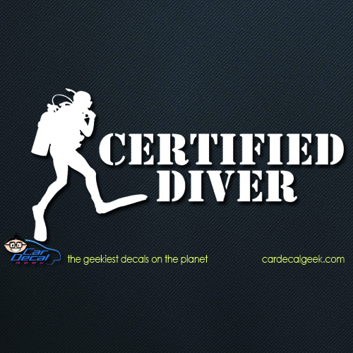 Certified Scuba Diver Car Decal