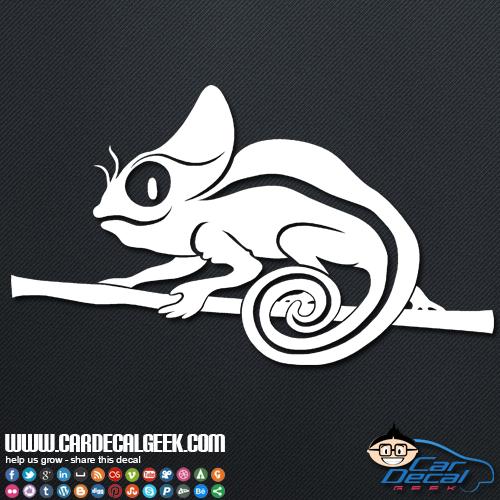 Cute Chameleon Lizard Car Sticker Decal