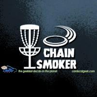 Disc Golf Chain Smoker Car Decal