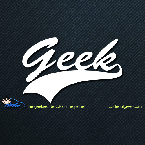 Geek Athletic Car Decal