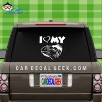 I Love My Iguana Car Window Decal Sticker Graphic