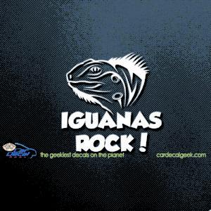 Iguana's Rock Car Decal