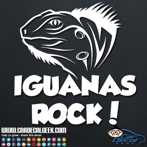 Iguana's Rock Sticker