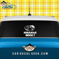 Iguana's Rock Car Window Decal Sticker