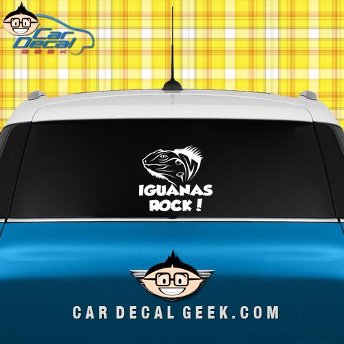 Iguana's Rock Car Window Decal Sticker