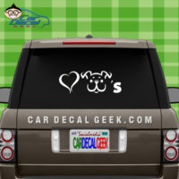 Love Dogs Car Window Decal Sticker