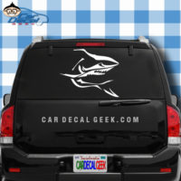 Menacing Scary Shark Car Window Decal Sticker