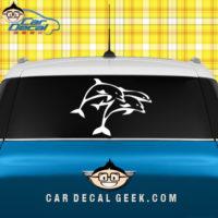 Three Jumping Dolphins Car Window Decal Sticker