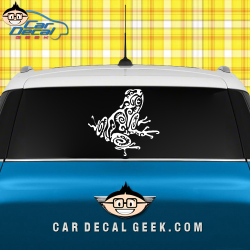 Tribal Frog Car Window Sticker Graphic