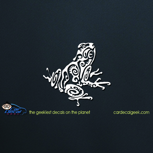 Tribal frog car decal