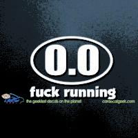 Fuck Running Car Decal
