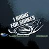 I Brake for Snakes Car Decal