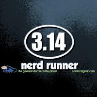 Nerd Runner Pi Car Decal