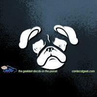 Pug Head Dog Car Decal