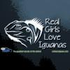 Real Girls Love Iguanas Car Decal