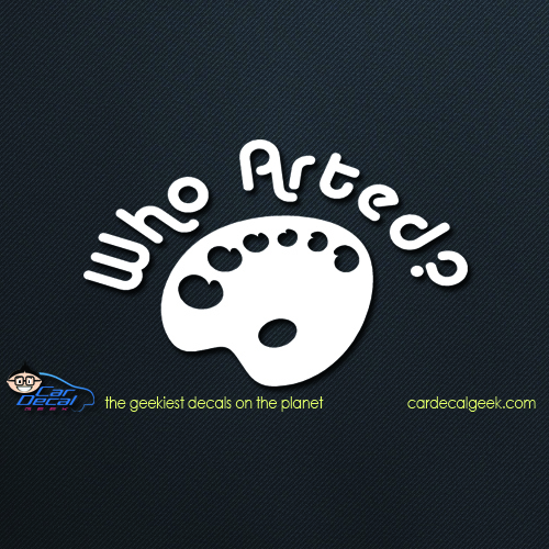 Who Arted Car Decal