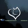 Cat Heart Car Decal Sticker