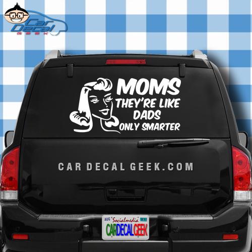 Humorous Mom Car Decal Sticker