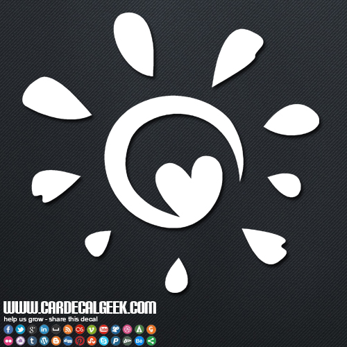 Tropical Sun Heart Decal