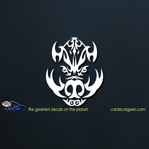 Boar Head Car Decal