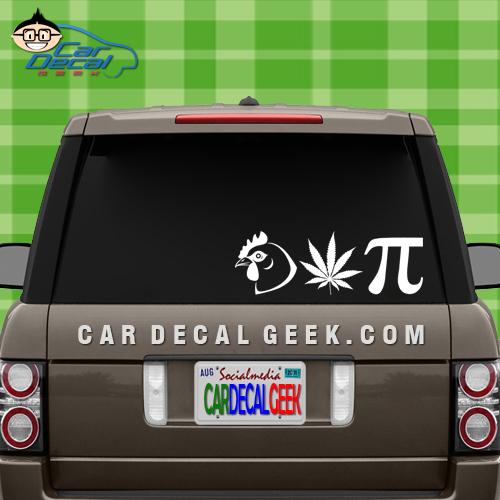 Chicken Pot Pie Car Window Decal Sticker