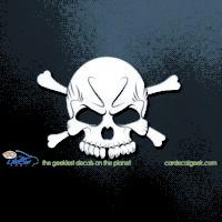 Cool Skull Car Decal
