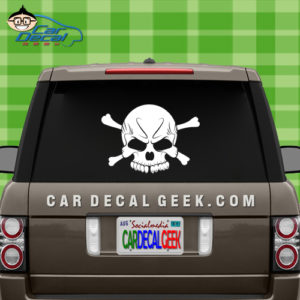 Skull Car Window Decal Sticker