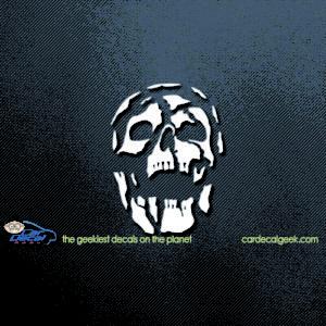 Deacying Skull Car Window Decal