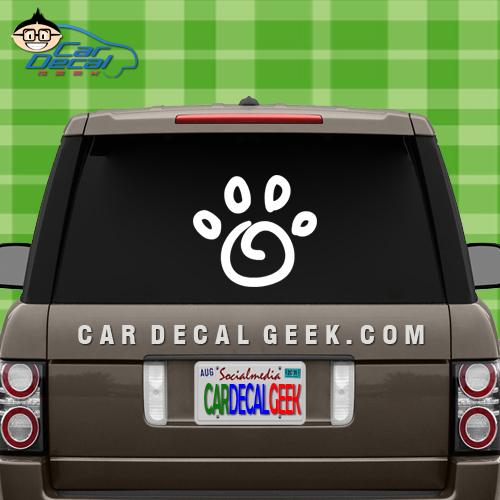 Dog Paw Car Window Decal Sticker
