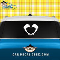 Dolphin Heart Car Window Decal Sticker