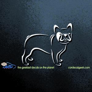 French Bulldog Decal Sticker Fun Frenchie Dog Car Window Accessories HS