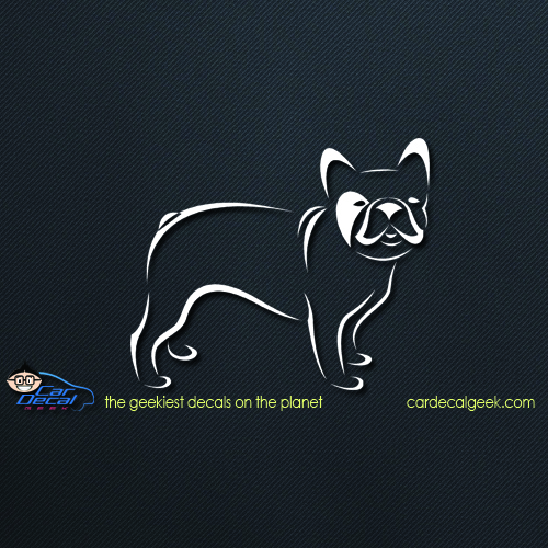 French Bulldog Car Decal