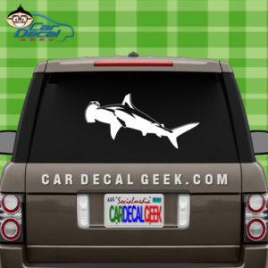 Hammerhead Shark Car Window Decal Sticker