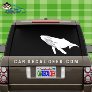 Humpback Whale Car Window Decal Sticker