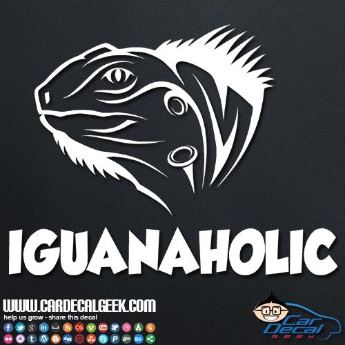 Iguanahlic Car Decal