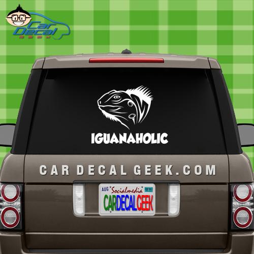 Iguanaholic Car Window Sticker