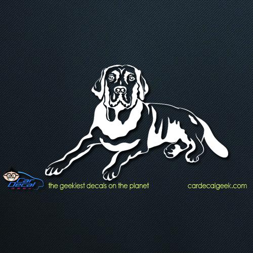 Labrador dog car decal