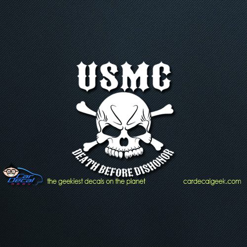 Marines Death Before Dishonor Car Decal