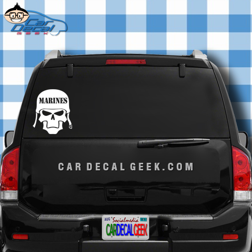 Marines helmet skull car decal marines helmet skull car window decal sticker