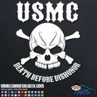 Marines USMC Death Before Dishonor Car Sticker