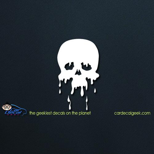 Melting Skull Car Decal