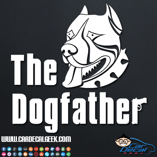 Pitbull Dogfather Decal