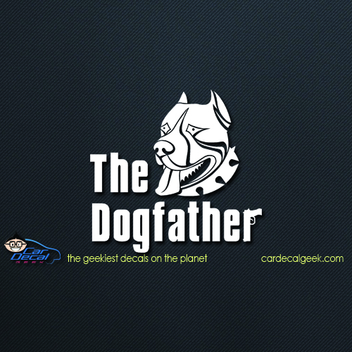 Pitbull Dogfather Sticker