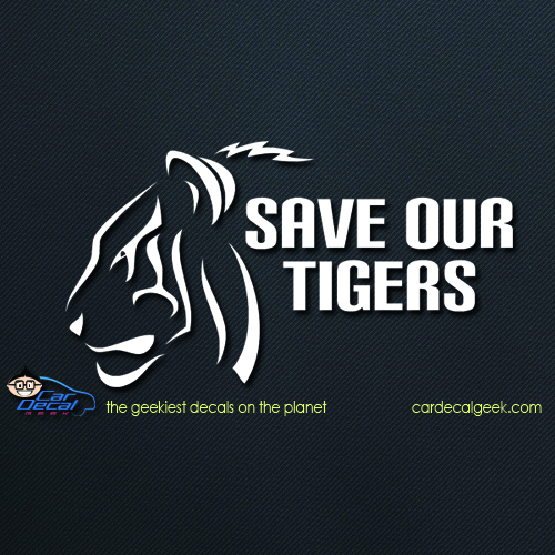 Save Our Tigers Car Decal