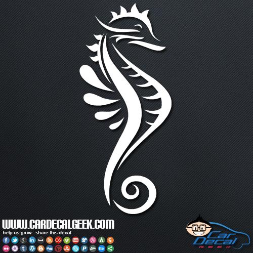 seahorse car sticker