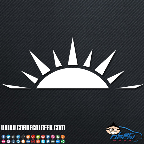 Setting Sun Car Window Vinyl Decal Sticker Tropical Decals
