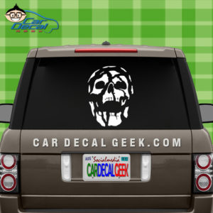Skull Decaying Car Window Decal Sticker