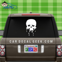 Skull Melting Car Window Decal Sticker
