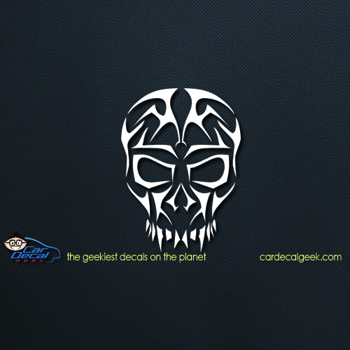 Tribal Skull Car Window Decal